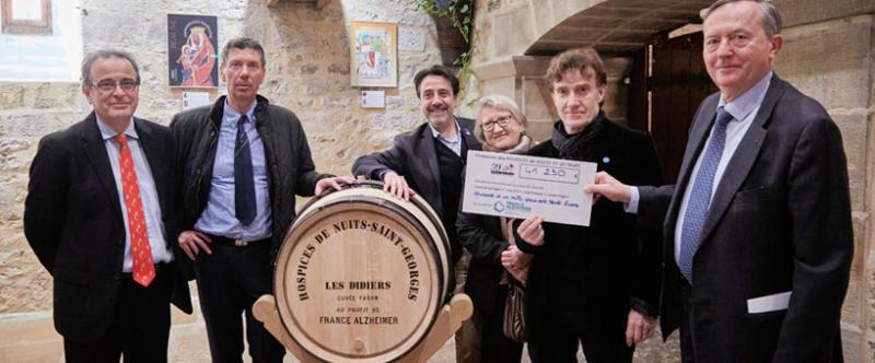 41.230 euros collectés grâce à la vente de vins des Hospices de Nuits-Saint-Georges