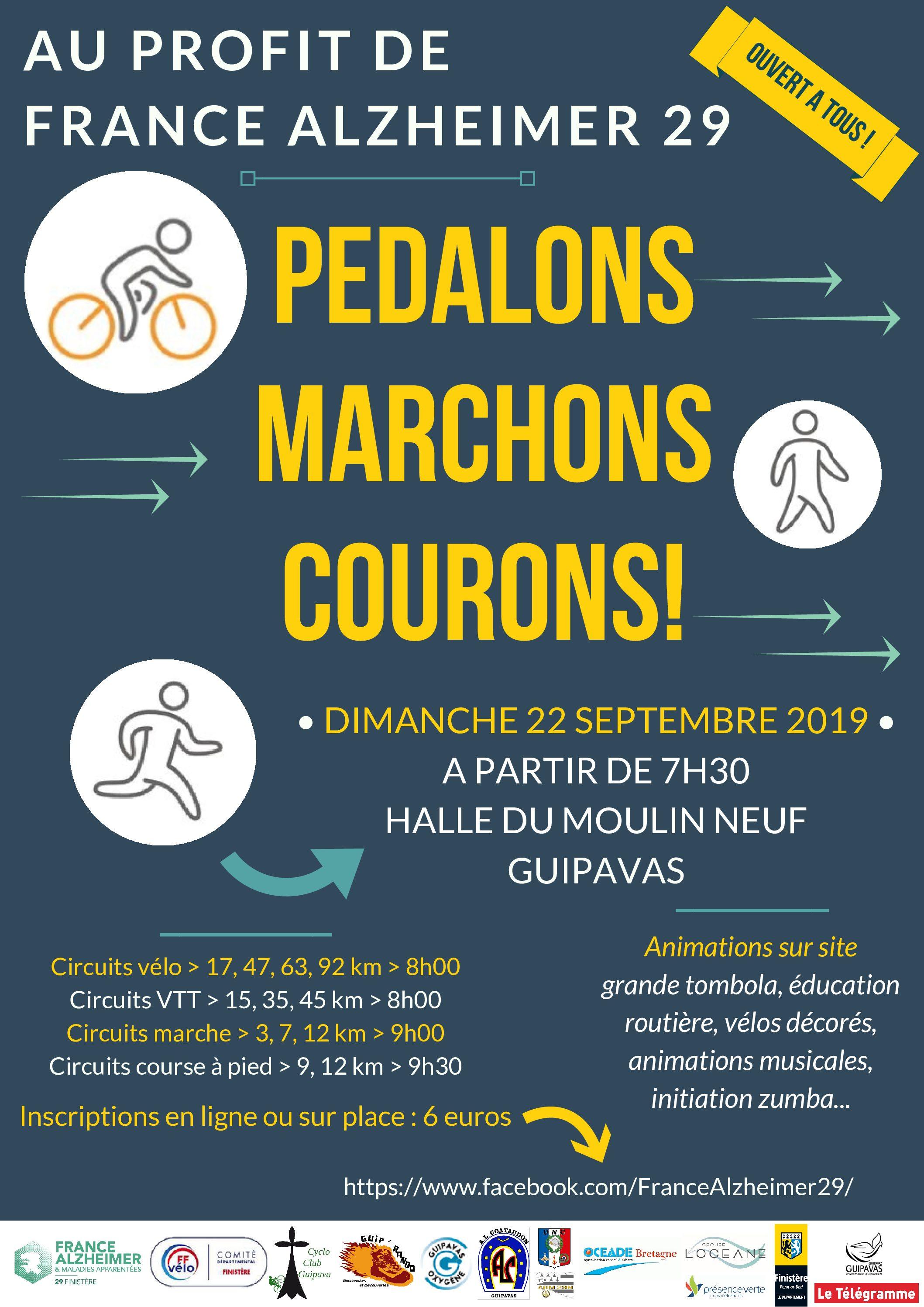 PÉDALONS, MARCHONS, COURONS! 22 SEPTEMBRE 2019