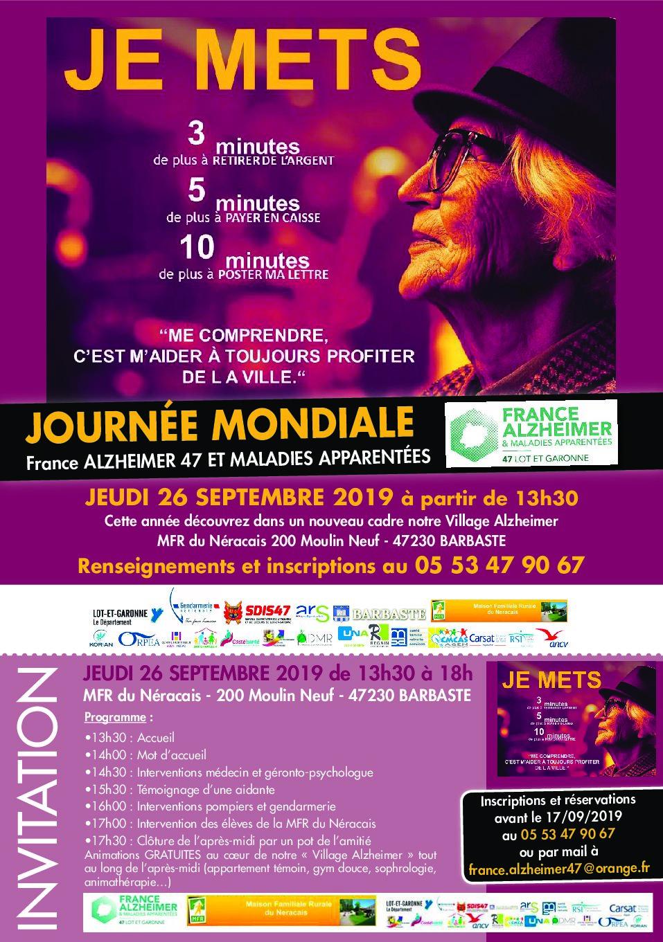 Journée Mondiale 2019 France Alzheimer 47
