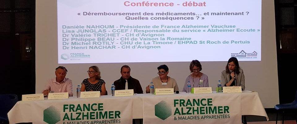Conférence-débat dans le Vaucluse.