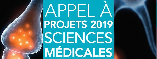 Lancement de l'appel à projets Sciences médicales 2019