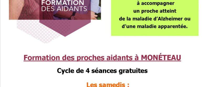 FORMATION DES PROCHES AIDANTS MONETEAU 2021