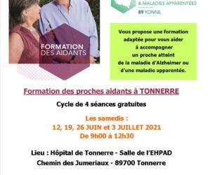 FORMATION DES PROCHES AIDANTS SENS 2021