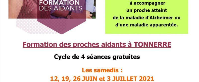 FORMATION DES PROCHES AIDANTS TONNERRE 2021
